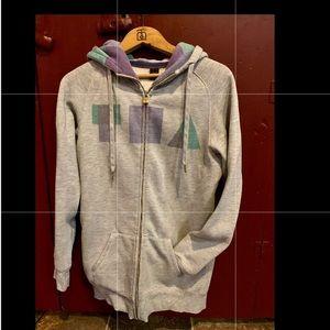 TNA long zip up hoodie